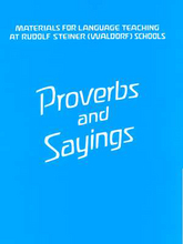 Cover für Proverbs and Sayings
