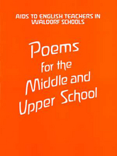 Cover für Poems for the Middle and Upper School